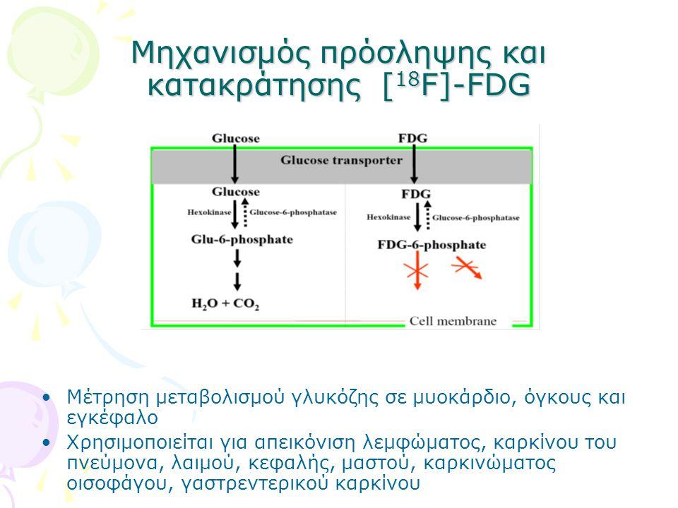 Μηχανισμός πρόσληψης και κατακράτησης [18F]-FDG